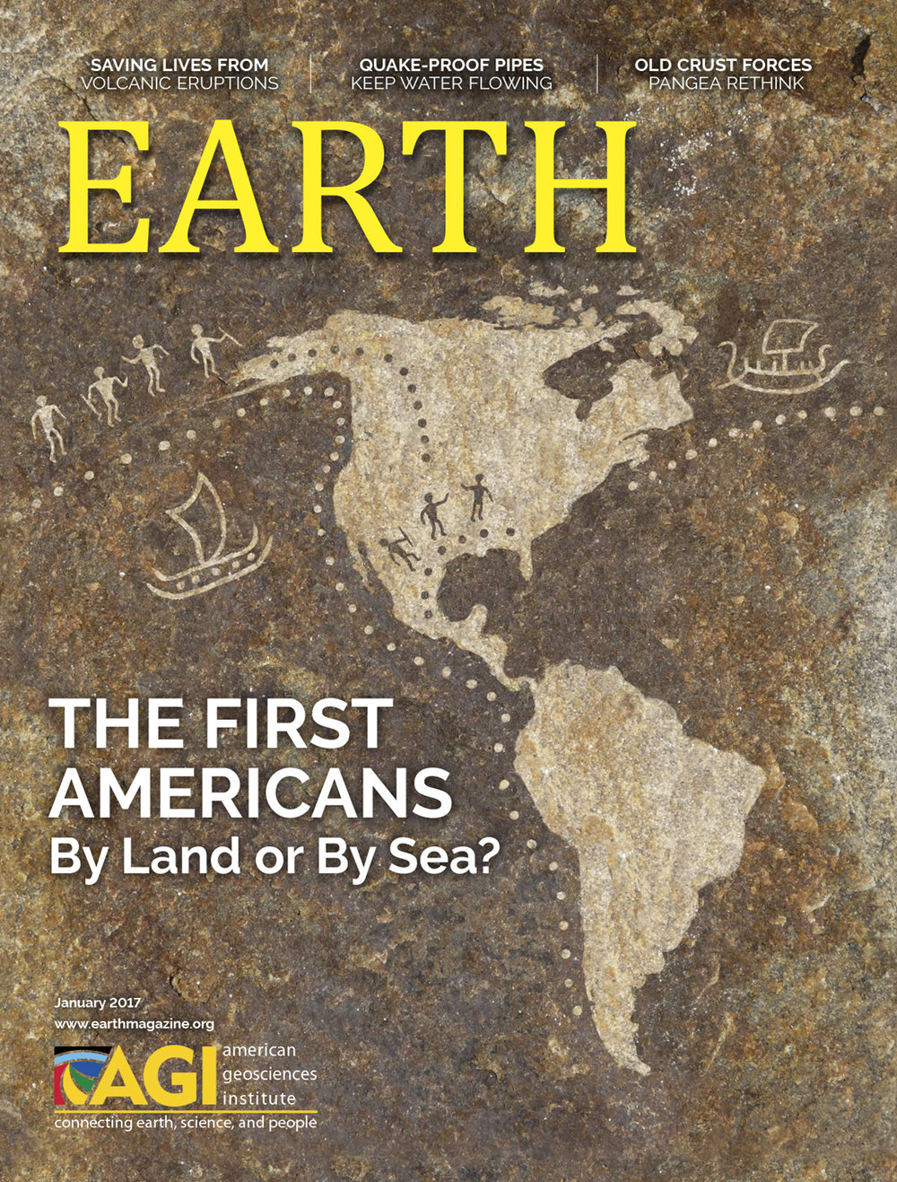 January 2017  EARTH Magazine, layout by Nicole Schmidgall  www.nicoleschmidgall.com