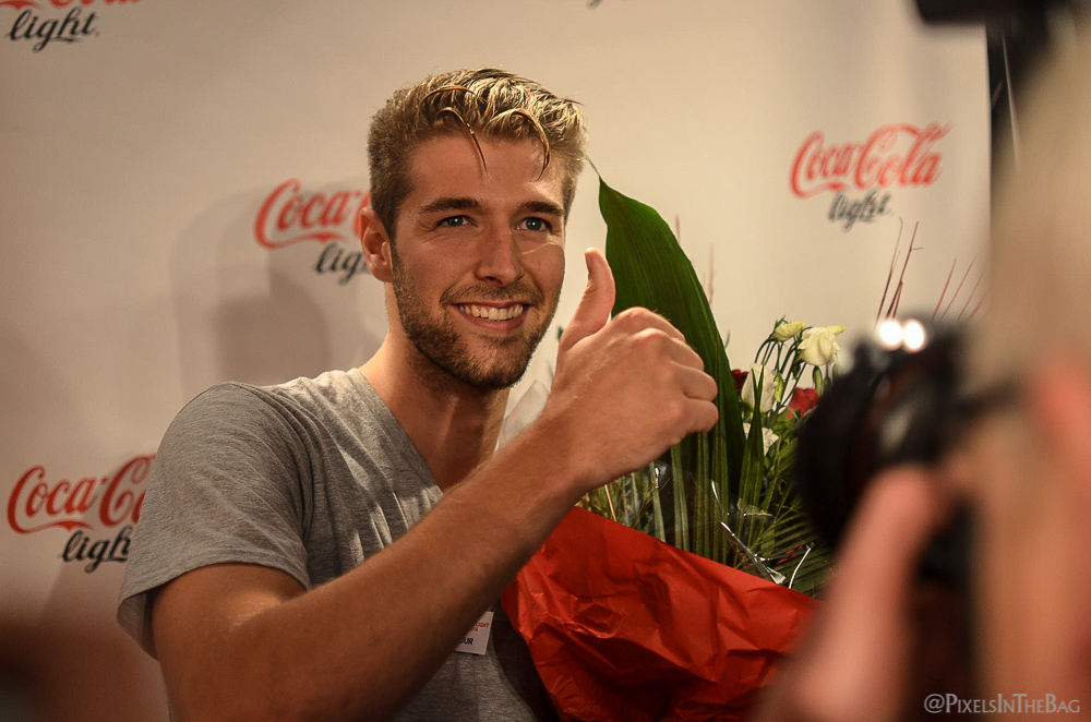 Tuur Roels, gagnant du Coca-Cola Light Man 2014 in Belgium.