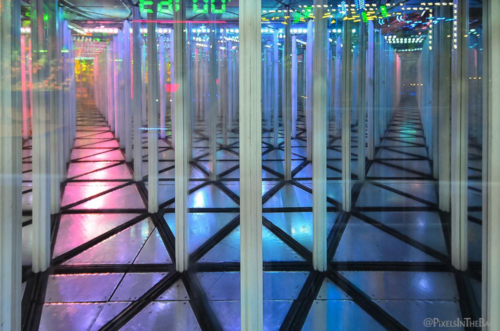 Maze of glass.