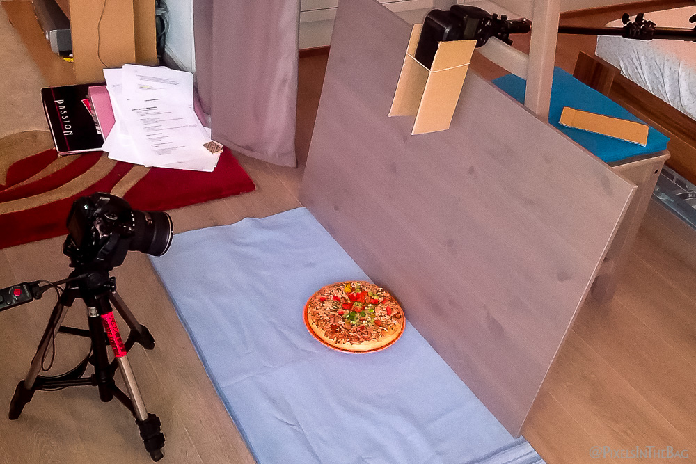 Setup for pizza of the future shoot.