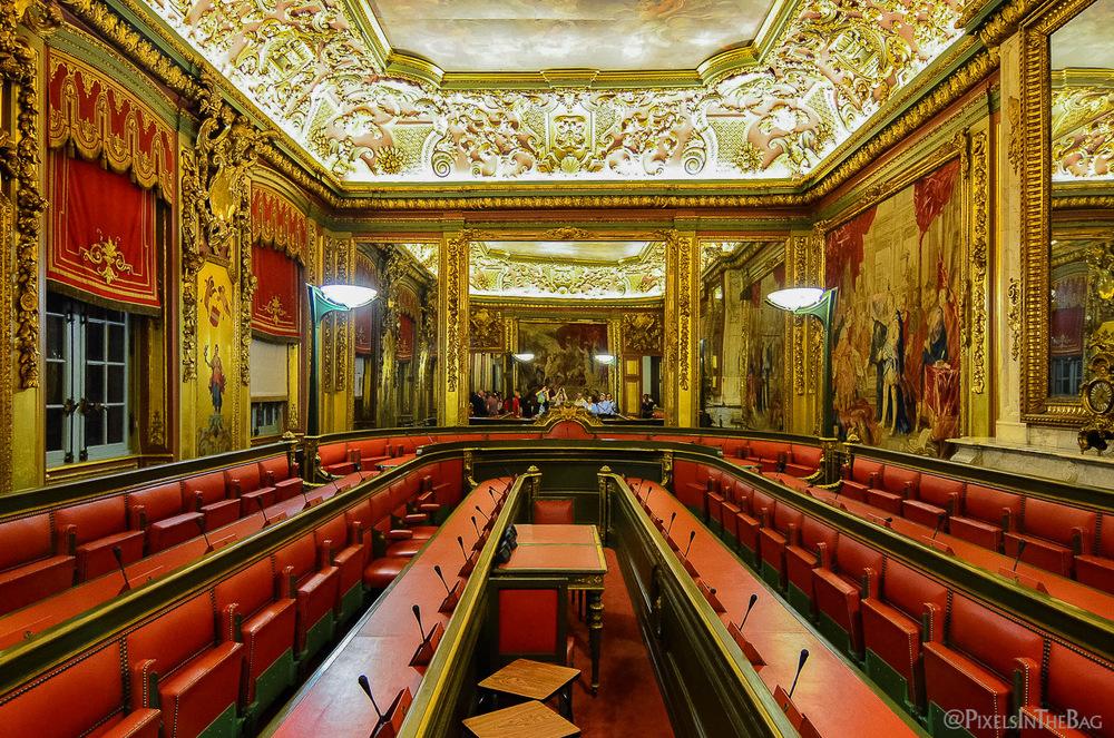 Salle de conférences à la Nocture des Musées.