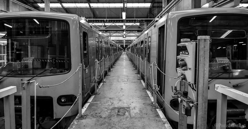 Un couloir de métros.