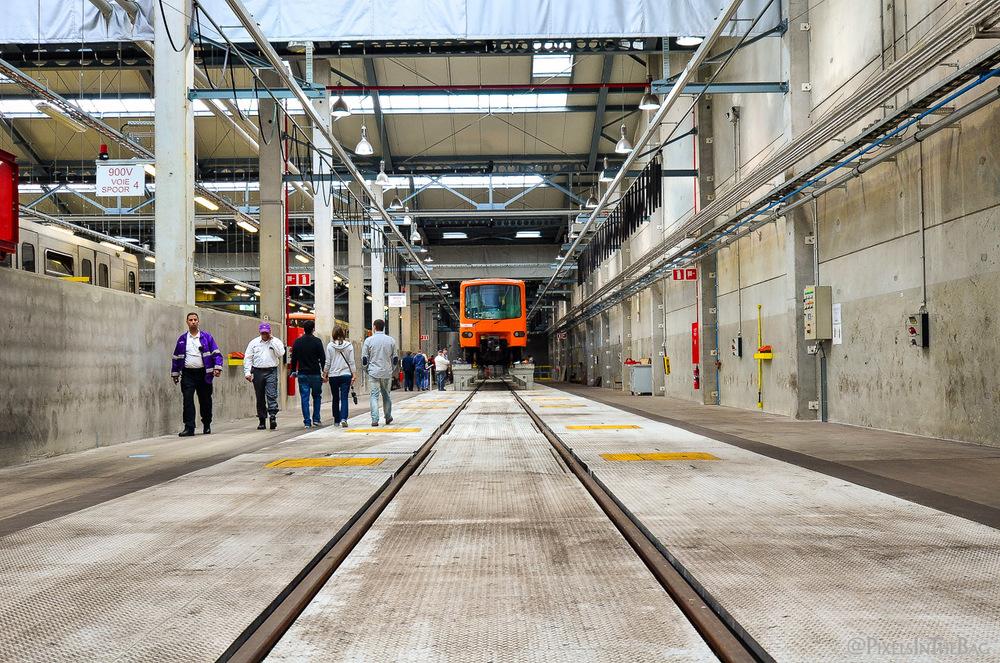 Le métro de la STIB en maintenance.