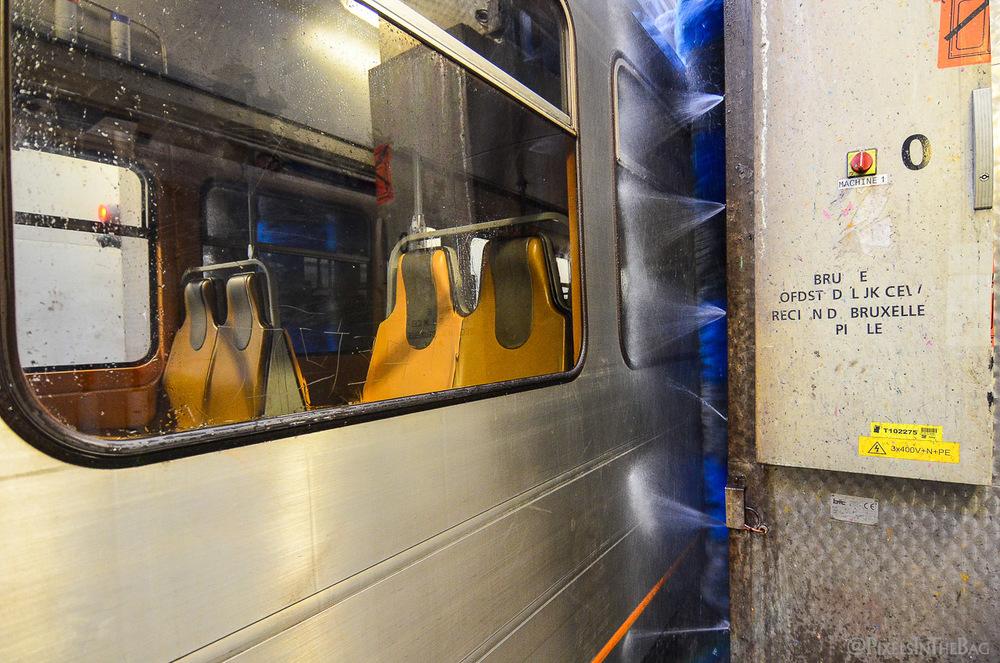 Lavage de métro.