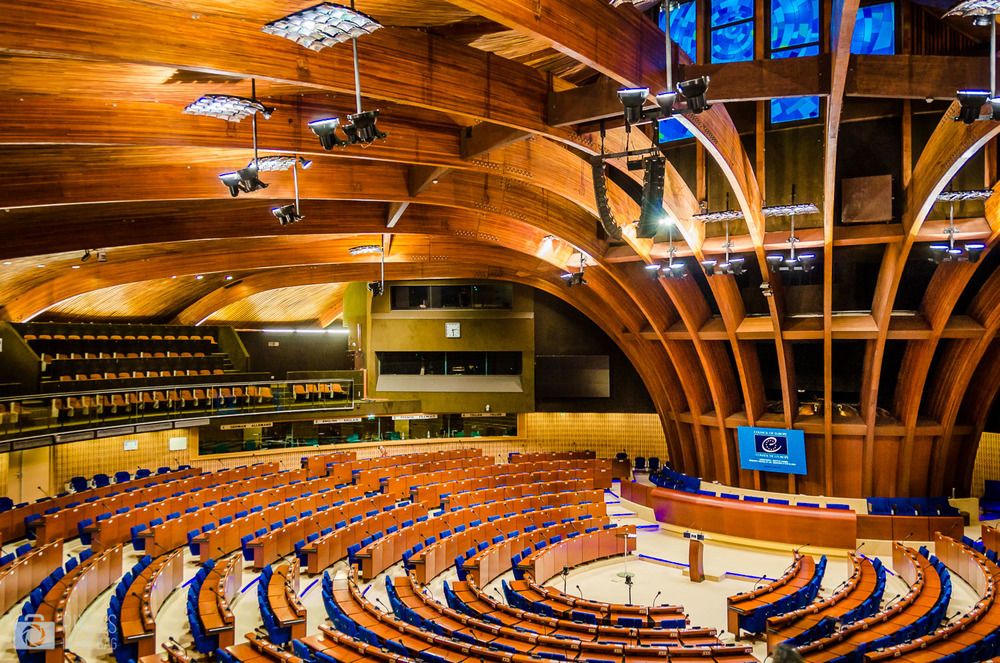 Hémicycle du Palais de l'Europe.