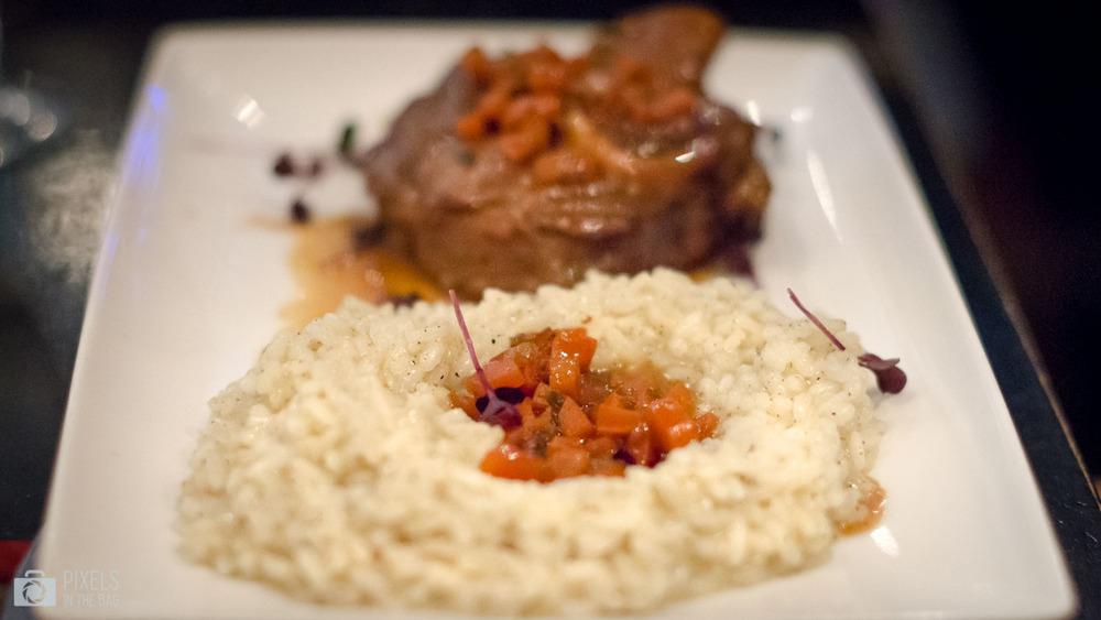 Ossobucco au Miel et risotto «Fromage et poivre »