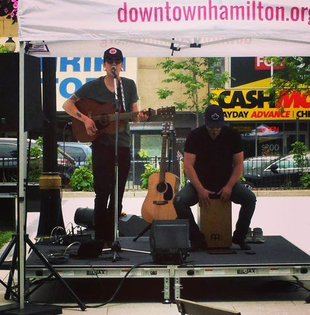 Had a blast playing this afternoon down at Gore park. Thanks again @dwntwnhambia! #hamont
