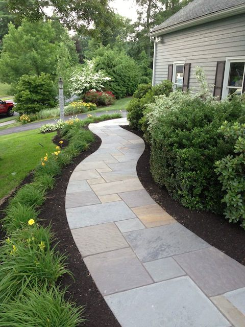 Before And After Natural Path Landscaping