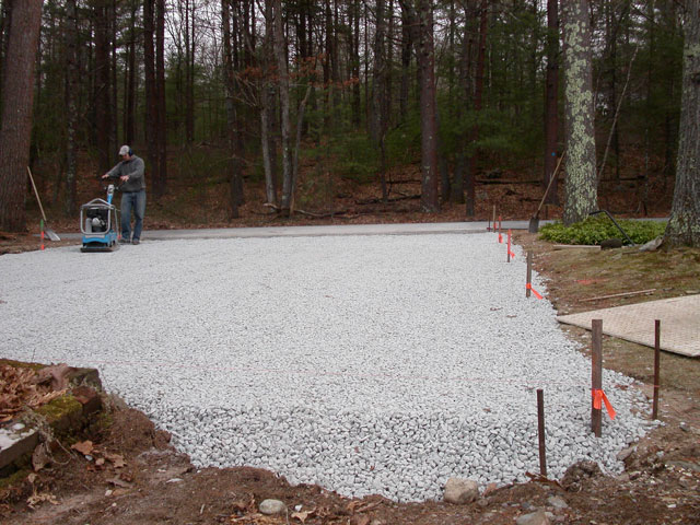 Crushed Canyon Cobble 3 8 3 4 : Permeable paving in ma — natural path landscaping