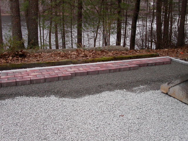 Permeable paving in ma natural path landscaping for 2 thick granite
