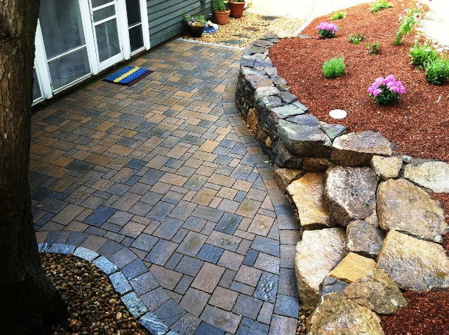 Lovely This Permeable Courtyard Prevents Water From Running Down The Driveway.