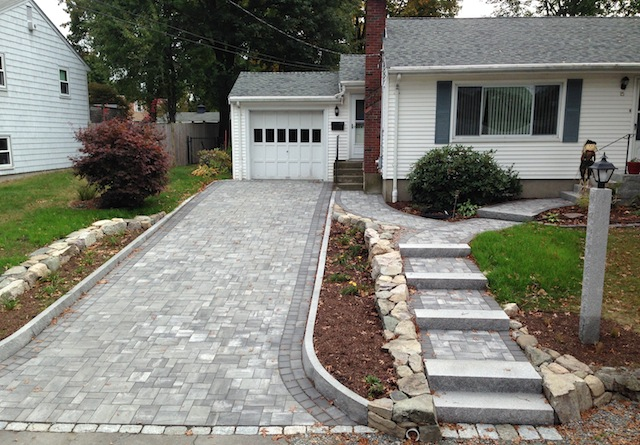 Landscaping A Sloping Driveway : Driveways design in ma natural path landscaping