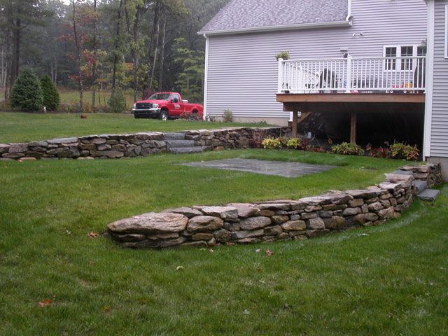 Landscape design in ma natural path landscaping for Terraced landscape definition