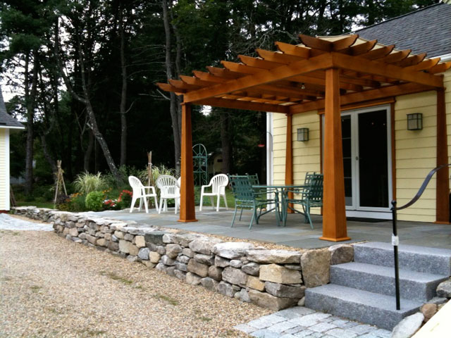 Dry Rock Wall Was Constructed To Cover Previous Concrete Wall And Provides  The Perfect Outdoor Setting For This Home Built In The Early 1800u0027s.