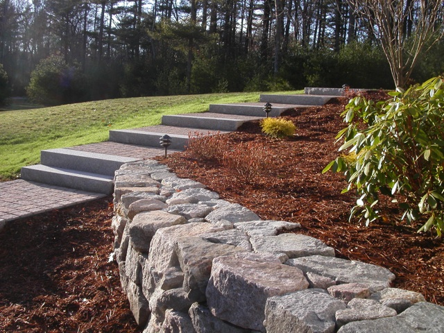 rock wall landscaping backyard bruno3640x480jpg wall building in ma natural path landscaping