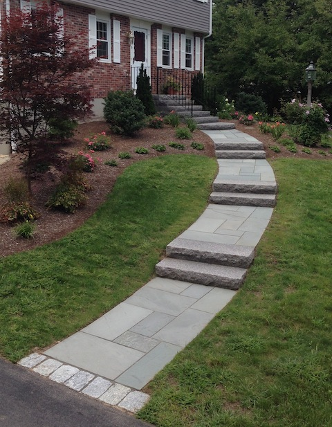 Granite steps look wonderful on any house and last forever the top
