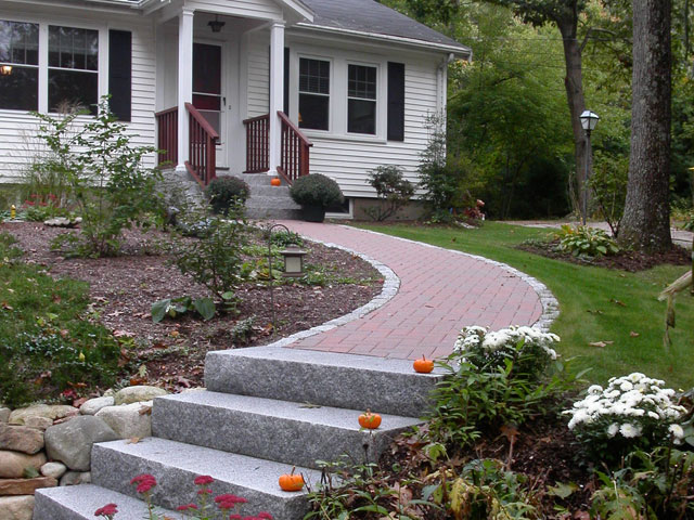 walkway and patio design in ma  u2014 natural path landscaping
