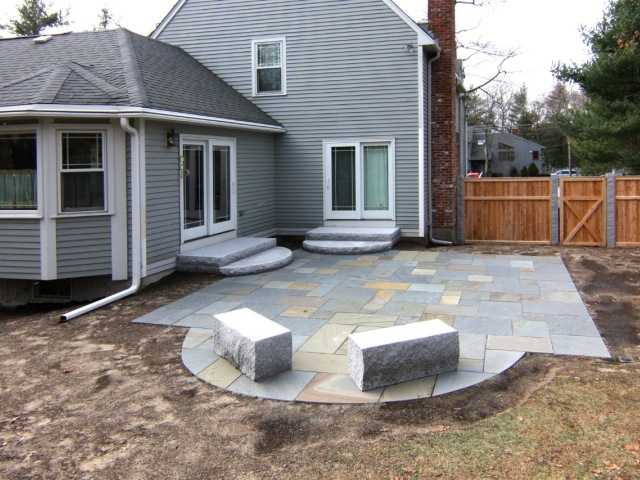 Walkway and Patio Design in MA — Natural Path Landscaping on corner house roof designs, corner house garden designs, corner house yard designs, corner house driveway, corner house plants,