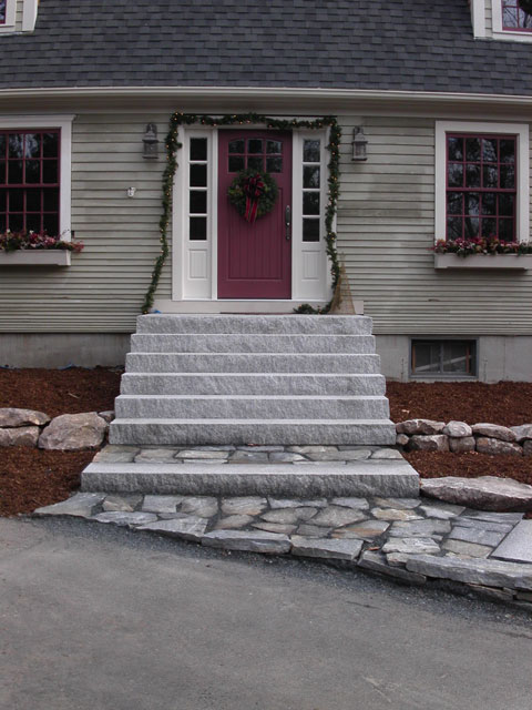 Entrances And Steps on Large House With Yard