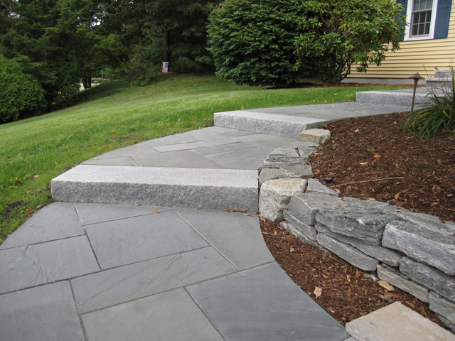 Walkway and patio design in ma natural path landscaping - Front door walkways and paths ...