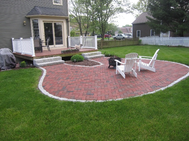 Bluestone Patio Fits Precisely And Offers Three Access Points From The Home.