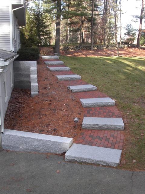 Granite Steps Ma Natural Path Landscaping