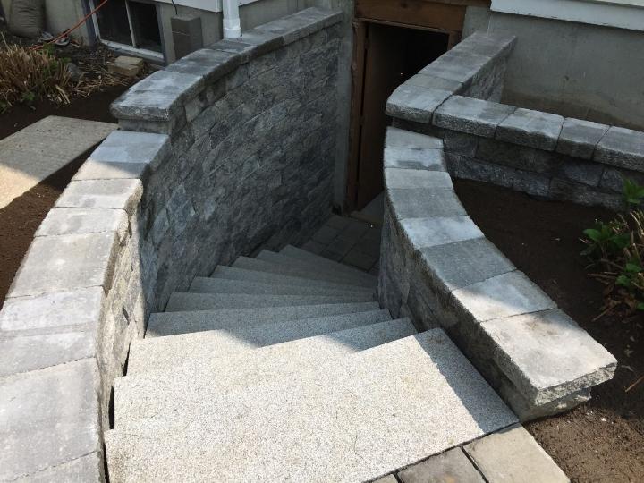 Basement Entrance with Curved Granite Steps.jpg