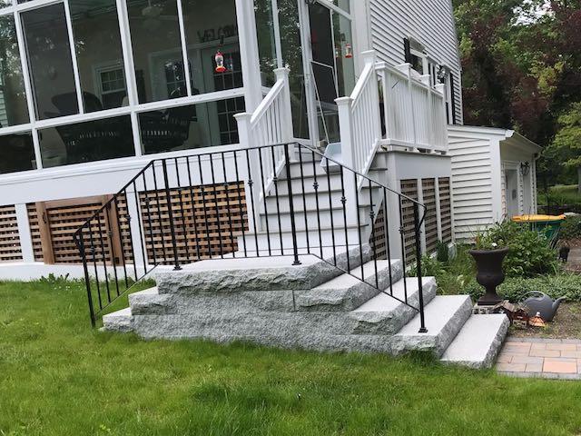 Double Granite Steps