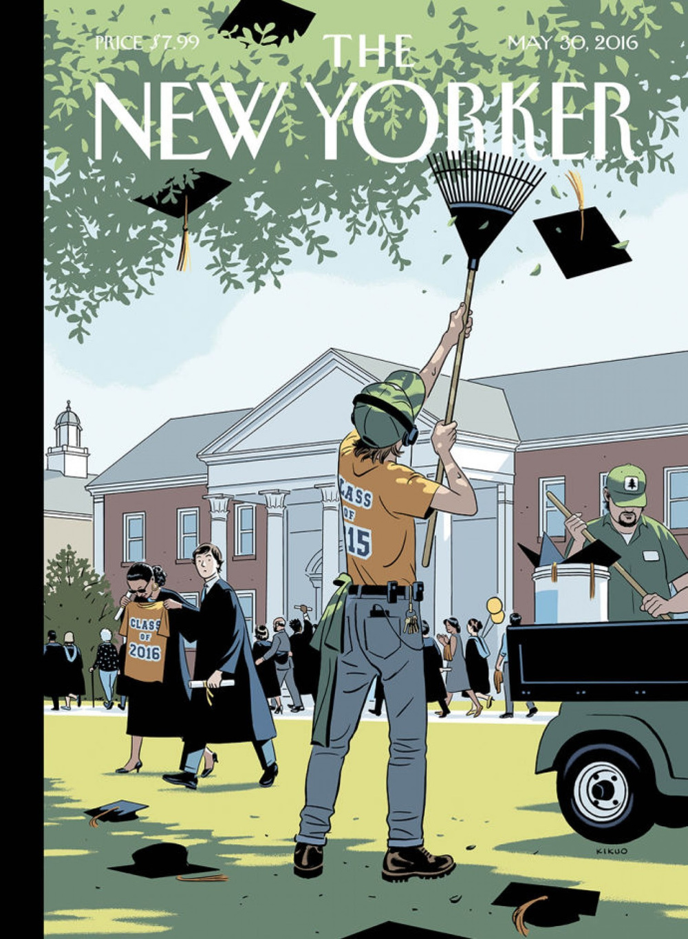 """Commencement,"" by R. Kikuo Johnson. (courtesy of The New Yorker 2016)"