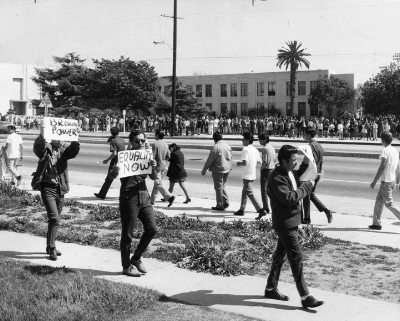 Venice High School in Los Angeles Public School District has a long, proud history of student activism.  Photo from the Los Angeles Public Library photo collection.