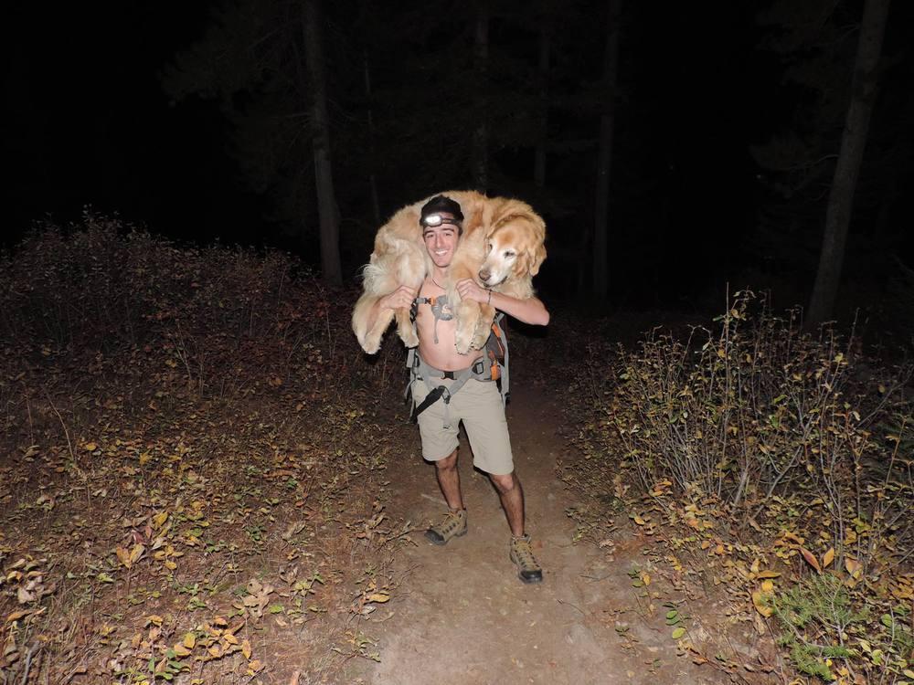 Moose and Dario on the Garnet Mtn Trail
