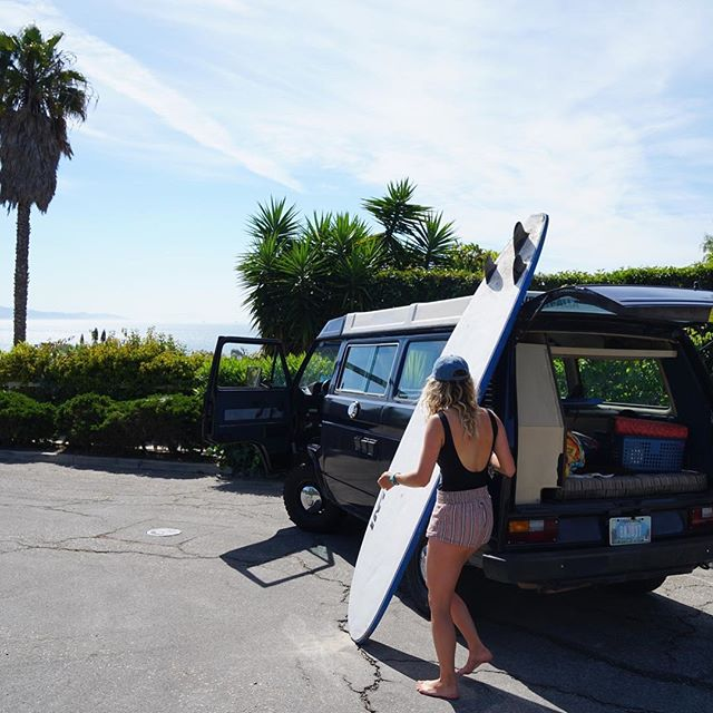Something pretty special about throwing surfboards into the back of a VW vanagon.