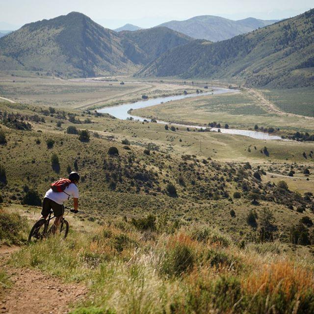 Biking Lewis & Clark style #caverns #montanadesert #jeffersonrivermt @zaneclampett