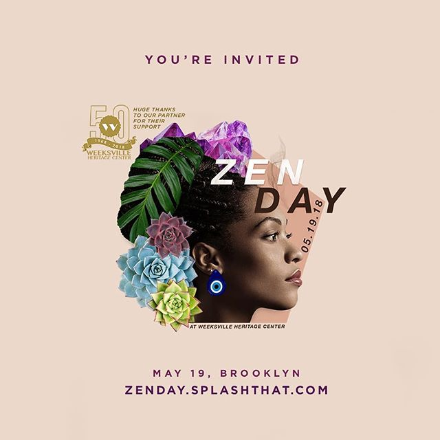 Zen Day, the first ever community wellness conference is almost here! Zen Day brings Movement, Mindfulness, and Modern Spirituality to communities of color at the historic @weeksvilleheritagecenter on May 19th, 2018 @ 2pm in Brooklyn.  Join my faves 😍 @grillzandgranola and😍 @iseeyouwell as they bring together a community of creatives, entrepreneurs, healers, influencers and wellness advocates to share accessible ways to help each other be well.  Grab your ticket here: zenday.splashthat.com