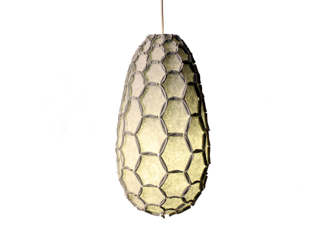 Nectar lampshade Full light grey - Designer Rebecca Asquith.jpg