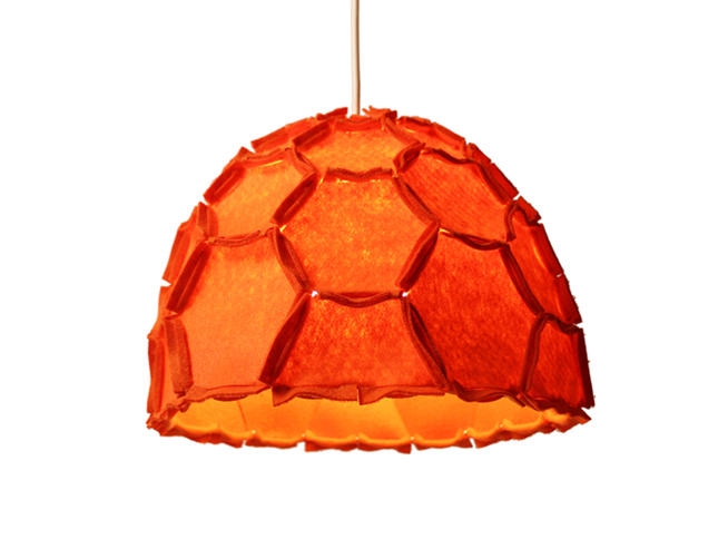 Nectar lampshade Half orange - Designer Rebecca Asquith.jpg