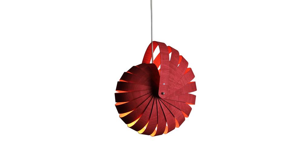 Nautilus lampshade small red white background - Designer Designtree.jpg