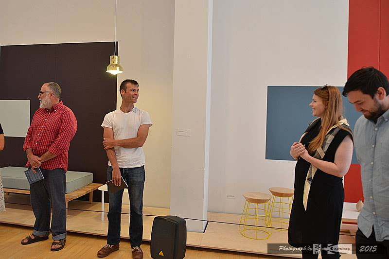 Artists Talk at the Dowse Modern Revivals exhibition on Sunday: Left to right: Duncan Sargent, Tim (Designtree), Emma and Nigel (Well Groomed Fox).  Image by Éva Kaprinay
