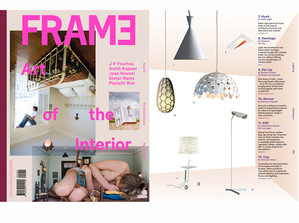 Designtree in Latest Frame magazine Sept/Oct  Thank you to Tracey, Lydia and the team from Frame magazine. The latest Issue of Frame (No 84 Sept-Oct) has our Nectar shade hanging amongst some very cool lights. Check it out