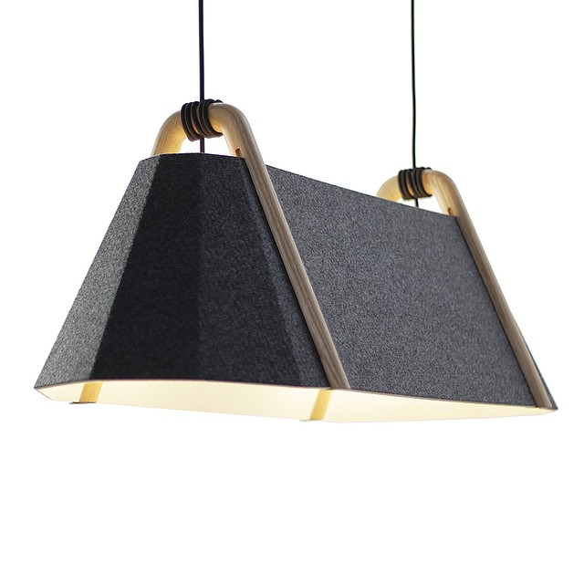 We're very excited about the new dual tone addition to our Frankie #pendant #light system made from #recycled #acoustic #felt panels - Charcoal outside, white inside. Available now and currently being added to the Designtree website. (at Lyall Bay - Wellington)
