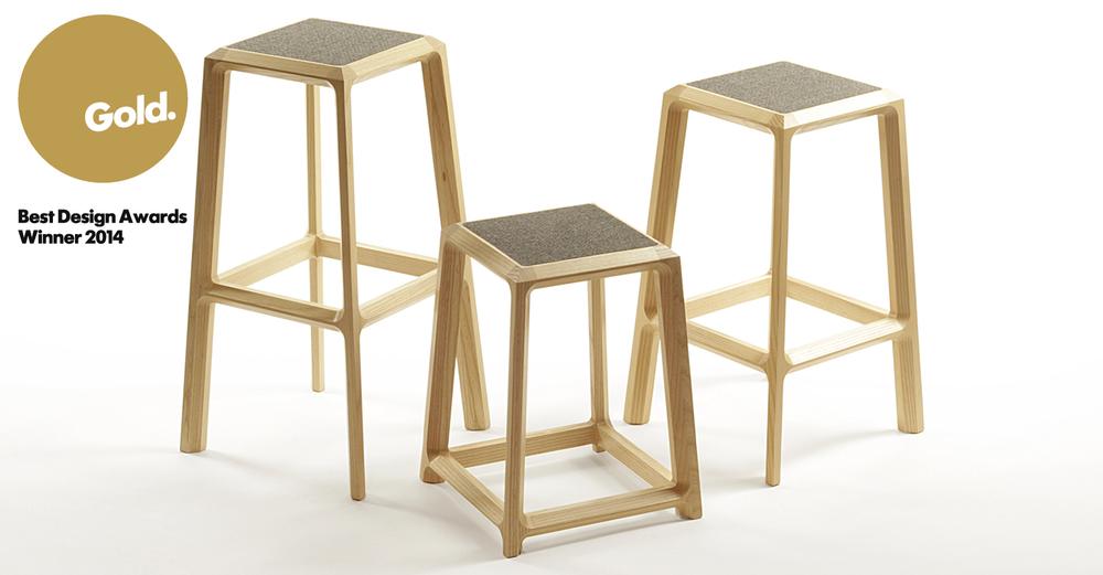 Chamfer stools Best Award winner 2014 - Designer Designtree.jpg