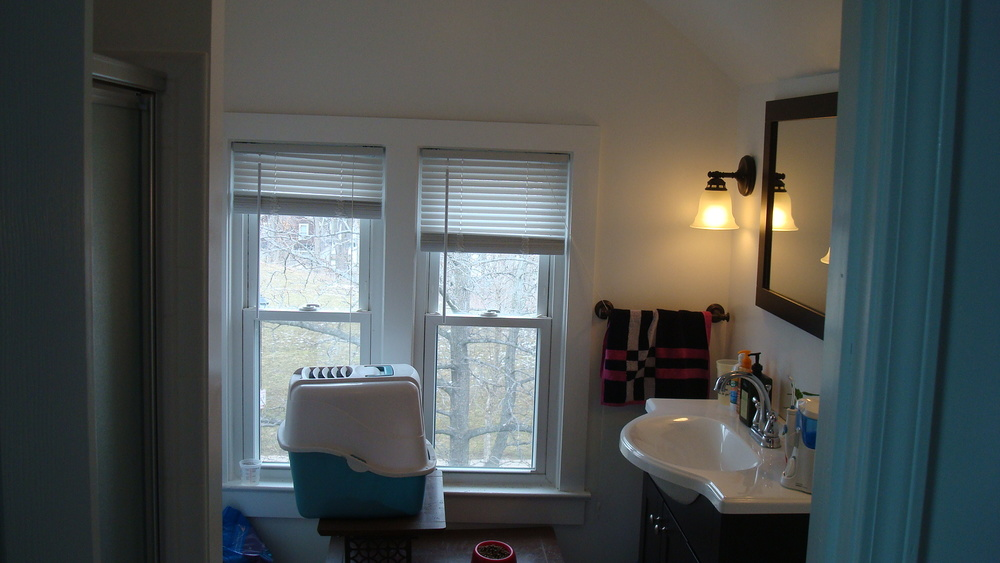 Newly Furnished Bathroom With New Plumbing In This Rochester Student Home For Rent On Congress Ave