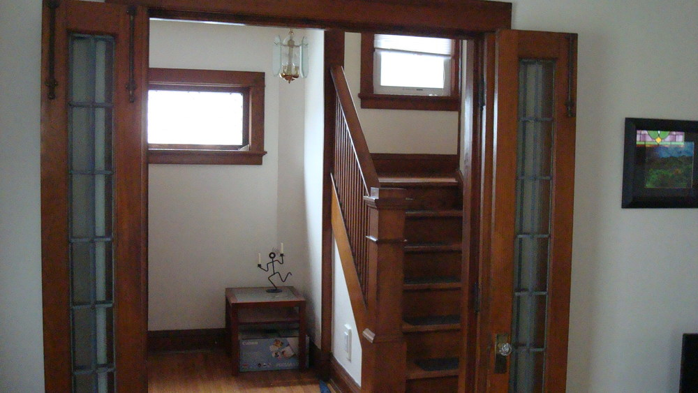Newly Renovated Staircase on First Floor of Rentable Student Home