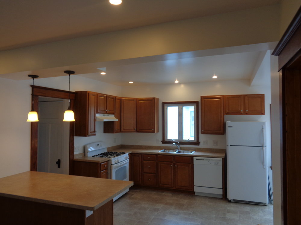 Spacious Kitchen.  Affordable Student Housing Rochester NY