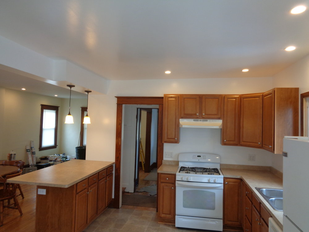 Large Kitchen. Newly Renovated.  Rochester Student Housing.
