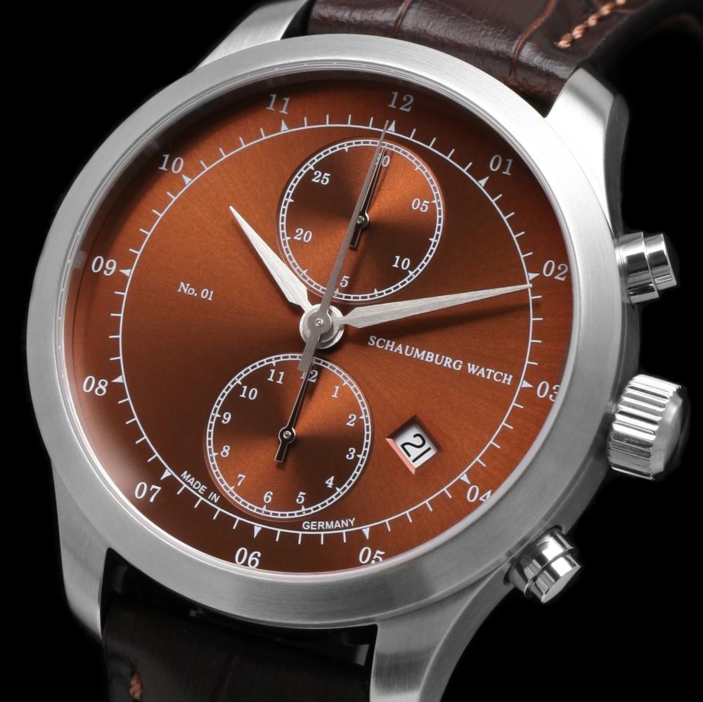 Schaumburg Watch Chronograph No.01 Brown