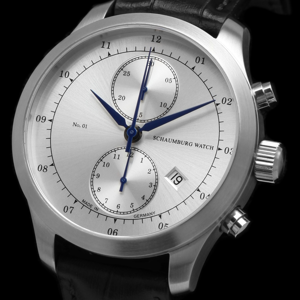 Schaumburg Watch Chronograph No. 01 Silver