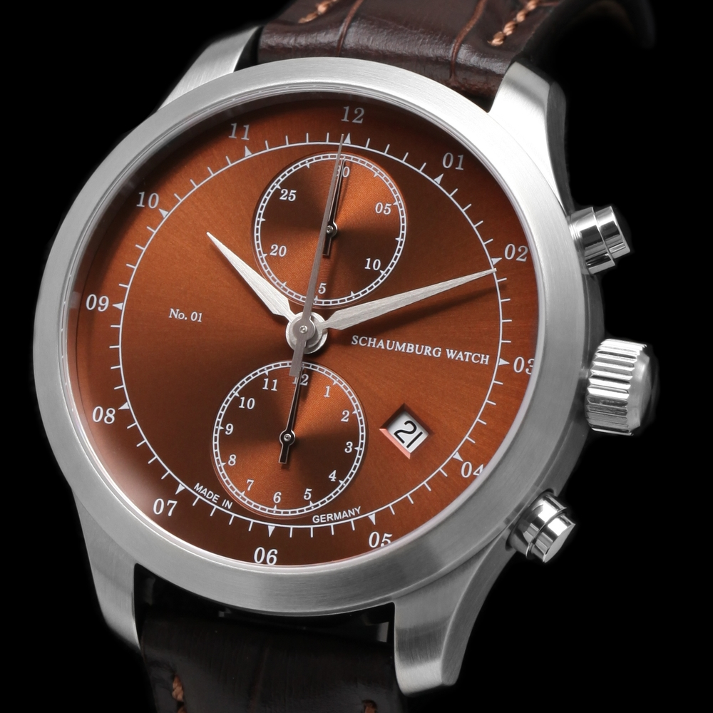 Schaumburg Watch Chronograph No. 01 Brown