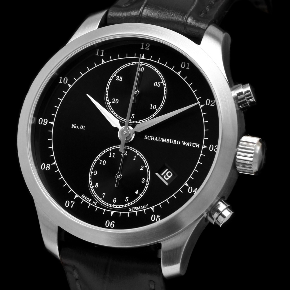 Schaumburg Watch Chronograph No. 01 Black