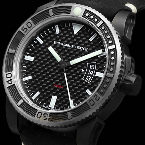 Schaumburg Watch AQM 4 Carbon PVD